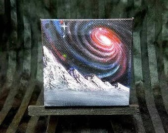 original galaxy oil painting on canvas