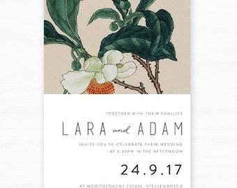 Printable Wedding Invitation | Lara Wedding Invitation