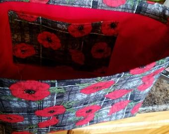 Rose hand bag