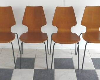 Stackable chairs, school chairs, dining chairs...60's