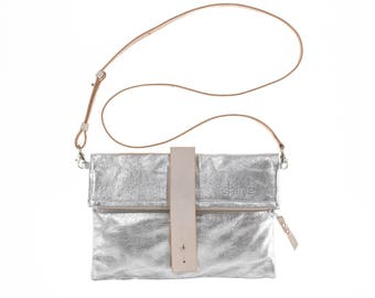 Georgina clutch in silver