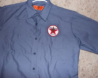 Large Texaco Mechanic Shirt-Retro Gasoline