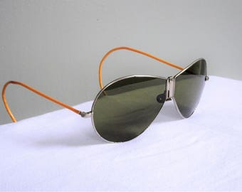 Vintage Folding Aviator Sunglasses Shooter Temples | Vintage Motorcycle | Hipster Sunglasses | Aviator Glasses