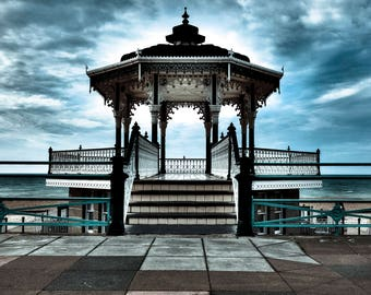 The Brighton Bandstand - UK, Brighton, travel, explore, beach,seaside,Fine Art Photography