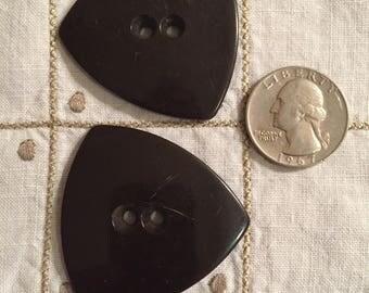 Brown Bakelite Buttons Set of 2