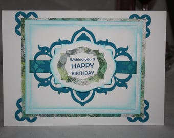 Unique, hand crafted birthday card