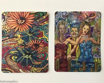 fine art print cards by Christiana Kolle , flat card, multi color, limited edition