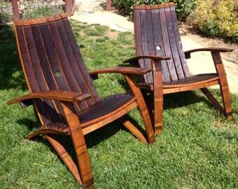 Adirondack Wine Barrel Chairs, Vintage Wine Barrel Furniture, Custom Built Wine Barrel Furniture, Napa Valley Wine Barrel Furniture, Staves
