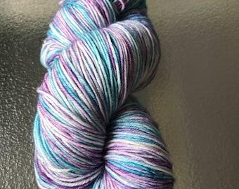 Hand dyed 4ply sock yarn 'Gem'