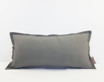 Storm Grey Linen Sofa or Bed Cushion