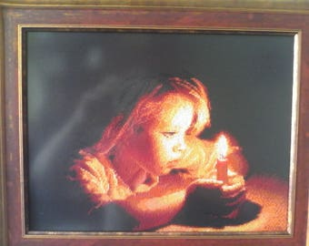"""Picture """"Girl with a candle"""""""