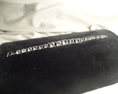 1930's Bracelet with Amazing Crystal Stones-Sterling