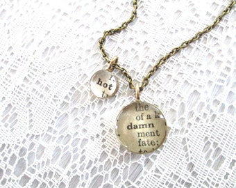 inspirational jewelry, hot damn necklace, secret message necklace, brass necklace