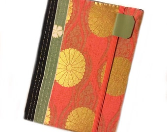 Kindle Cover fits Touch and Paperwhite - Obi Stripe - eReader case - hardcover - Tech accessory - cover for Kindle - Japanese chrysanthemum