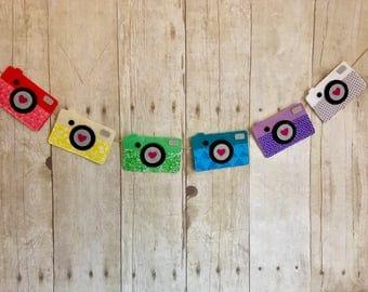 Camera Love Felt Garland | Vintage Camera | Kids Room | Gallery Wall Decor | Photo Prop | Custom Colors