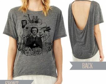 Edgar Allan Poe pony open back t-shirt