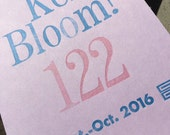 Kerbloom letterpress zine about grief