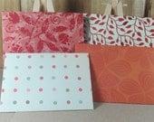 4 Mini A7 Handmade envelopes, brawn, tan and cream. Thank you, Weddings, birthday cash, gift giving, invitation