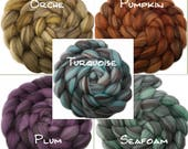 CTA SAL Pre-Order - Handpainted Heathered BFL Roving - 4 oz. Arizona Solids - Spinning Fiber