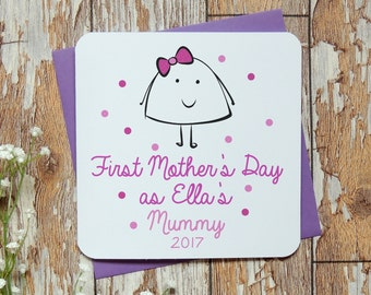 first mother's day personalised card, new mum card, mummy card, new baby card