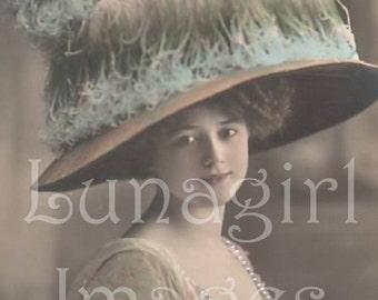 1000 Vintage images, LADIES PHOTOS, Volume One, Victorian Edwardian women flappers, antique photographs, French postcards, digital ephemera