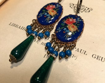 Happy Little Posies Chandelier Earrings