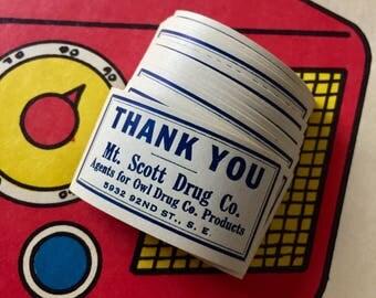 15pcs OWL DRUGS STICKERS Vintage Drug Store Pharmacy Mt. Scott Drug Co