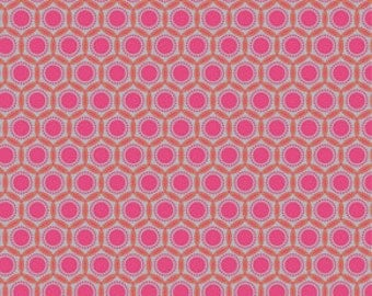 Joel Dewberry Heirloom Fabric / Opal in Blush  JD52 /  1/2 Yard Cotton, Quilting Apparel Fabric / Out of Print / End of Bolt