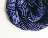 NAVY hand dyed yarn fingering sock dk bulky yarn super wash merino wool yarn single or ply. choose your base. nautical deep navy blue yarn