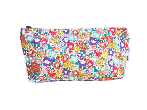 Makeup Bag Floral, Women's Toiletry Bag, Cosmetic Bag, Makeup Case, Small Make up Bag, Cosmetic Case