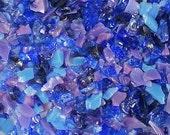 Destash Glass Frit Blend Violet Blue Dragonfly Glassworx Indigo Shimmer COE 94-96 0.1oz Bag