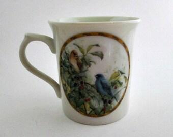Lenox Indigo Bunting Bird Mug - Catherine McClung Indigo Evening Mug Nature's Collage Mug Collection