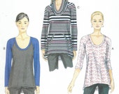 Vogue 9055 - PULLOVER Raglan Sleeve KNIT TOPS - Sewing Pattern - Sizes 4-6-8-10-12-14 - Uncut