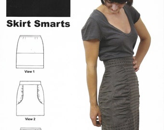 Sewn Square One - SKIRT SMARTS Pencil Skirt - 3 Styles - Sewing Pattern - Multi Sizes 0 to 20 - UNCUT