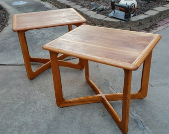 Pair of Matching Mid Century Lane End Table Adrian Pearsall Style