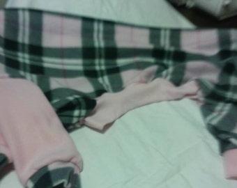Greyhound Jammies.  Medium.  Pink and black plaid.