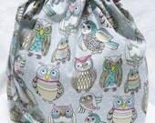 SALE - Box Bottom Knitting Project Bag