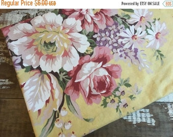 40% OFF- Shabby Chic Floral Fabric-Reclaimed Vintage Bed Linens-