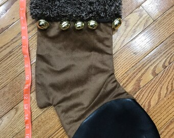 Christmas stocking, Reindeer hoof stocking, personalized Christmas Reindeer stocking