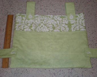 Lime Green and White Print and Lime Green Solid Walker Bag