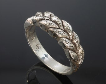 Sterling Silver Sage Leaf Ring by Cavallo Fine Jewelry