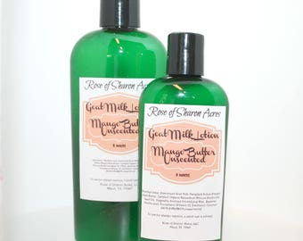 Mango Butter Goat Milk Lotion (8 ounce) - Rose of Sharon Acres