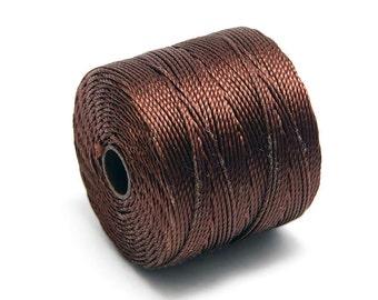 S-Lon Bead Cord - Superlon Bead Cord - Knotting Cord - Macrame Cord -  77 Yard Spool - TEX210 - Brown (B255)