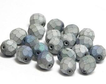 Czech Fire Polished Beads - 8mm Round - Round Beads - Czech Glass Beads - Czech Beads - Glass Beads - 20pcs (3933)