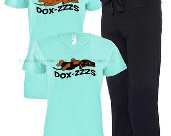 Dachshund Pajamas Dox-Zzzs Capri PJ Lounge Set