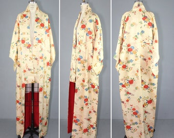 vintage kimono / dressing gown / bohemian / TRELLIS and BLOOM floral robe