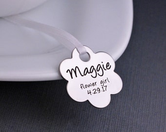 Wedding Bouquet Charm,  Flower Girl Gift, Custom Wedding Bouquet Charm, Wedding Bridesmaid Gift