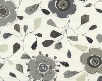 "Fat Quarter (18"" x 22"") Little Flower Grey 4152 by Michele D'Amore from Urbanicity for Benartex"