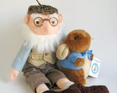 Vintage Mr. McGregor from Peter Rabbit Stuffed Doll Toy by Eden Beatrix Potter 1980s Toy