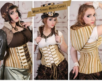 Waist 42 to 44 Midas Stripe Wench Corset